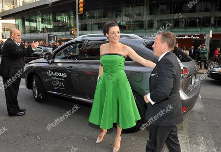 Media Award honorees Garance Dore and Scott Schuman arrives in a Lexus at the 2012 CFDA Fashion Awards, in New York
