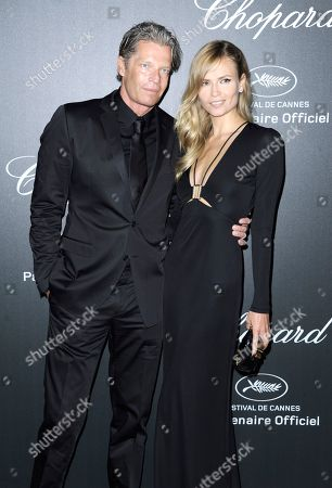 Peter Bakker and Natasha Poly seen the Chopard Party at the 67th international film festival, Cannes, southern France