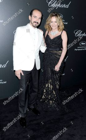 Stock Picture of Alexis Veller and Caroline Scheufele seen the Chopard Party at the 67th international film festival, Cannes, southern France