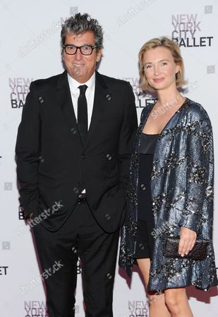 Andrew Rosen and guest attend the New York City Ballet 2013 Fall gala at Lincoln Center on in New York