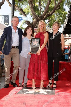 Executive Producer Alex Gansa, Claire Danes, Producer Winnie Holzma and Bess Armstrong seen at a ceremony honoring Claire Danes with a star on The Hollywood Walk of Fame, in Hollywood, CA