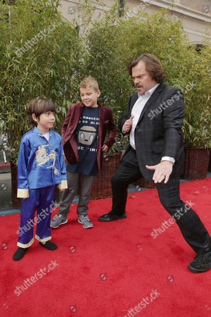 Stock Photo of Thomas David Black, Samuel Jason Black and Jack Black seen at DreamWorks Animation and Twentieth Century Fox World Premiere of 'Kung Fu Panda 3' at TCL Chinese Theater, in Hollywood, CA