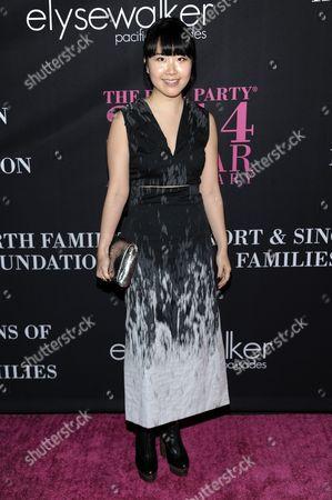 Hanako Maeda arrives at Elyse Walker's 10th Annual Pink Party, in Santa Monica, Calif