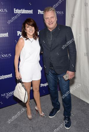 Actress Patricia Heaton and husband David Hunt attend the Entertainment Weekly and People New York Upfronts Celebration at The High Line Hotel, in New York