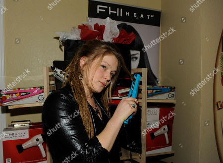Musician Crystal Bowersox visits the FHI HEAT hair tools at the Fender Music lodge during the Sundance Film Festival, in Park City, Utah