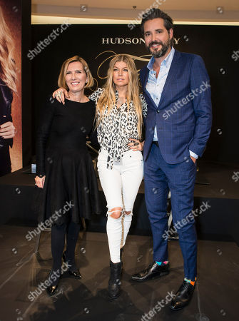 Liz Rodbell, President of Hudson's Bay Company, Fergie and Roz Weston seen at The Hudson's Bay to promote Fergie Footwear and Fergalicious by Fergie,, in Toronto