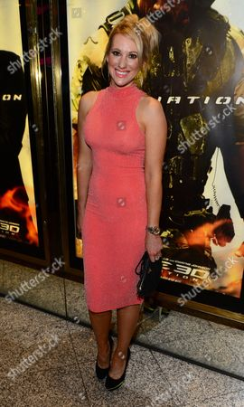 Rebecca Fernando arrives at the UK Premiere of G.I. Joe: Retaliation at the Empire Leicester Square in London on
