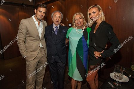 Stock Image of In this image distributed, Bill Rancic, Eduardo DePandi, Anna DePandi and Giuliana Rancic seen at Giuliana Rancic 40th birthday surprise at the new RPM Steak Preview Party on Saturday, August 9, 2014 in Chicago