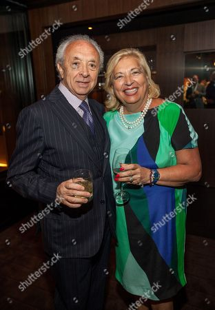 Stock Picture of In this image distributed, Eduardo DePandi and Anna DePandi seen at Giuliana Rancic 40th birthday surprise at the new RPM Steak Preview Party on Saturday, August 9, 2014 in Chicago