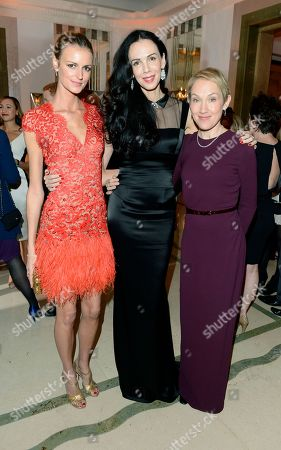 Stock Photo of Jaquetta Wheeler, left, L'Wren Scott, centre, and Justine Picardie are seen at the Harper's Bazaar Woman of the Year Awards 2012 in association with Estee Lauder, Harrods and Tiffany & Co. at Claridge's Hotel on in London