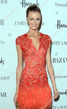 Stock Picture of Jaquetta Wheeler is seen at the Harper's Bazaar Woman of the Year Awards 2012 in association with Estee Lauder, Harrods and Tiffany & Co. at Claridge's Hotel on in London