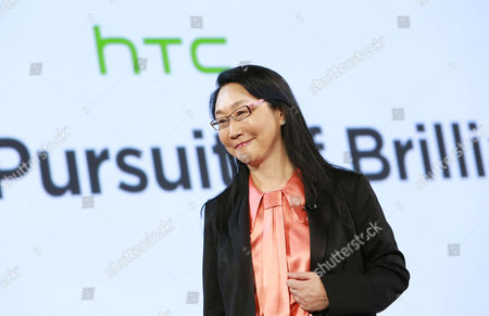 HTC's co-founder and chairwoman, Cher Wang speaks at HTC Presents Double Exposure at Skylight at Moynihan, on in New York