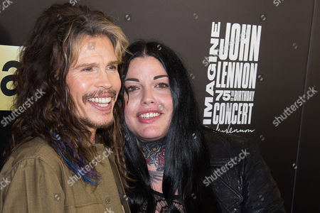 Steven Tyler and daughter Mia Tyler attend the Imagine: John Lennon 75th Birthday Concert at Madison Square Garden, in New York