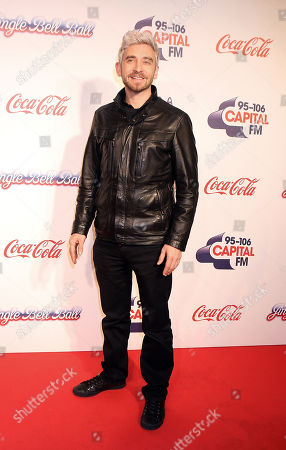 British DJ Fresh poses backstage at Capital FM's Jingle Bell Ball at the O2 Arena in London on