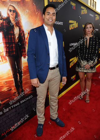 "Raj Brinder Singh arrives at the Los Angeles premiere of ""American Ultra"" at the Ace Hotel on"