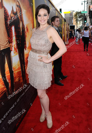 """Shelley Regner arrives at the Los Angeles premiere of """"American Ultra"""" at the Ace Hotel on"""