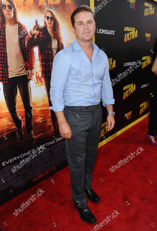 "Aaron MacPherson arrives at the Los Angeles premiere of ""American Ultra"" at the Ace Hotel on"