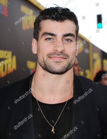 """Thomas Canestraro arrives at the Los Angeles premiere of """"American Ultra"""" at the Ace Hotel on"""