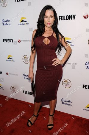 "Aria London arrives at the LA Premiere Of ""Felony"", in Los Angeles"