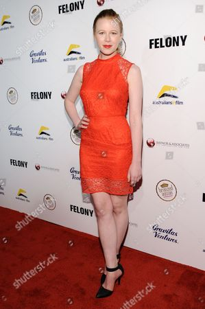 """Stock Picture of Anna McGahan arrives at the LA Premiere Of """"Felony"""", in Los Angeles"""