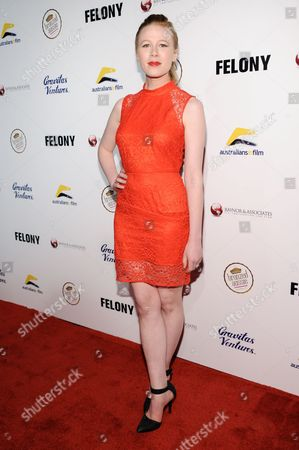 """Stock Photo of Anna McGahan arrives at the LA Premiere Of """"Felony"""", in Los Angeles"""