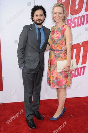 """Michael Ray Escamilla and guest arrive at the LA Premiere Of """"Hot Pursuit"""" held at the TCL Chinese Theatre, in Los Angeles"""