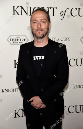 """Emmanuel Lubezki, cinematographer of """"Knight of Cups,"""" poses at the premiere of the film at The Theatre at Ace Hotel, in Los Angeles. Lubezki won his third consecutive Academy Award for Best Cinematography Sunday for his work in """"The Revenant"""