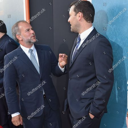 """Jeremy Dawson, left, and Dan Fogelman arrive at LA Premiere Of """"Me And Earl and The Dying Girl"""" Red Carpet at Harmony Gold Theater, in Los Angeles"""