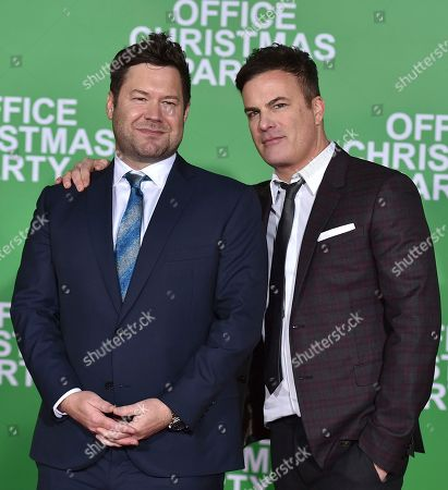 "Stock Image of Directors Josh Gordon, left, and Will Speck arrive at the Los Angeles premiere of ""Office Christmas Party"" at the Village Theatre Westwood on"