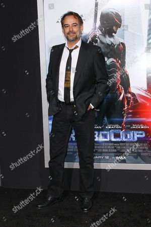 """Actor Jon Lindstrom attends the premiere of """"RoboCop"""" at the TCL Chinese Theatre, on Monday, February, 10, 2014 in Los Angeles"""