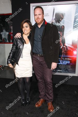 """Composer Pedro Bromfman attends the premiere of """"RoboCop"""" at the TCL Chinese Theatre, on Monday, February, 10, 2014 in Los Angeles"""