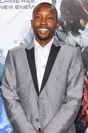 """Stock Picture of Actor K. C. Collins attends the premiere of """"RoboCop"""" at the TCL Chinese Theatre, on Monday, February, 10, 2014 in Los Angeles"""