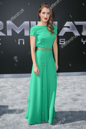 """Teri Wyble arrives at the LA Premiere of """"Terminator Genisys"""" at the Dolby Theatre, in Los Angeles"""