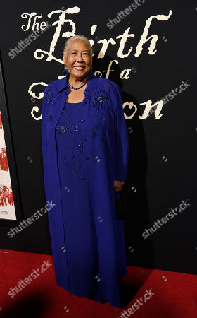 """Esther Scott, a cast member in """"The Birth of a Nation,"""" poses at the premiere of the film at the Cinerama Dome, in Los Angeles"""