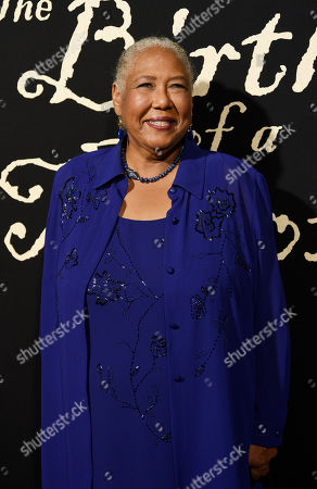 "Stock Picture of Esther Scott, a cast member in ""The Birth of a Nation,"" poses at the premiere of the film at the Cinerama Dome, in Los Angeles"