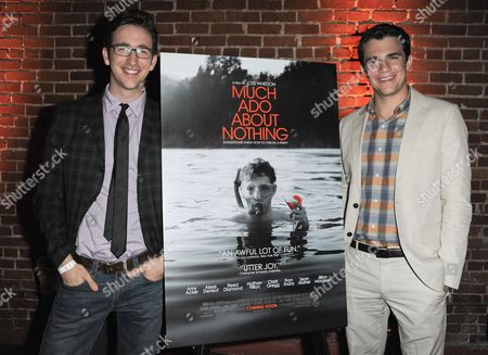"Brian McElhaney, left, Nick Kocher attend the LA premiere of ""Much Ado About Nothing"" on in Los Angeles"