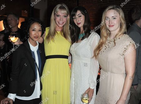 "From left, Maurissa Tancharoen, Riki Lindhome, Jillian Morgese,and Ashley Johnson arrive at the LA premiere of ""Much Ado About Nothing"" on in Los Angeles"