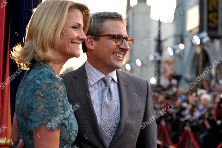 """Stock Image of Actors Nancy Walls, left, and Steve Carell arrive at the LA premiere of """"The Incredible Burt Wonderstone"""" at the TCL Chinese Theatre, in Los Angeles"""