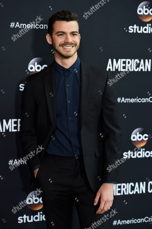 """Joey Pollari, a cast member in the television series """"American Crime,"""" poses at an Emmy For Your Consideration screening of the show at the Directors Guild of America, in Los Angeles"""