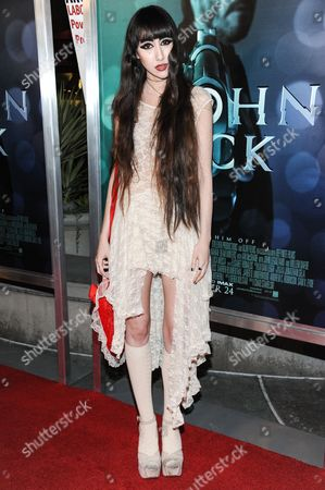 """Ciscandra Nostalghia arrives at the LA Special Screening Of """"John Wick"""", in Los Angeles"""