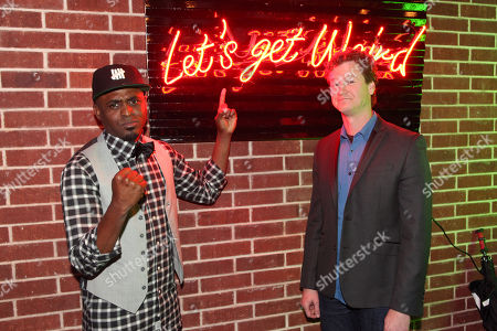 Stock Image of Wayne Brady and Jonathan Mangum seen at Let's Get Weird: A BuzzFeed Event sponsored by The CW at South by Southwest, on in Austin, Texas