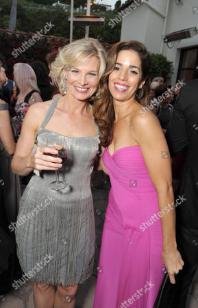 Melinda Page Hamilton, left, and Ana Ortiz attend Lifetime's Devious Maids Premiere Party, on in Pacific Palisades, Calif