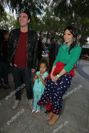 "Blake Lee and Ginger Gonzaga seen at Lollipop Theater Network's ""A Night Under the Stars"" at Nickelodeon Animation Studios, in Burbank, CA"