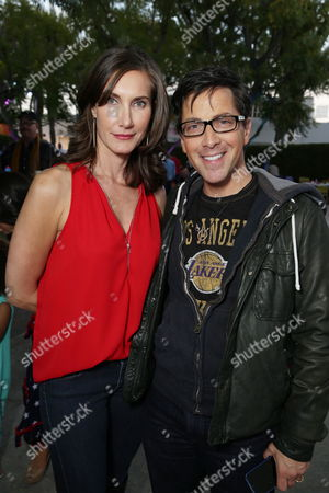 """Lollipop Theater Networks' Evelyn Iocolano and Dan Bucatinsky seen at Lollipop Theater Network's """"A Night Under the Stars"""" at Nickelodeon Animation Studios, in Burbank, CA"""
