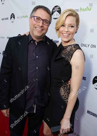 """Director Ira Ungerleider and Exec. Producer Elizabeth Banks seen at the Los Angeles premiere of Hulu and Paramount Digital Entertainment's """"Resident Advisors"""" at Paramount Studios, in Hollywood, CA"""