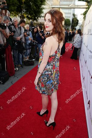 """Juliette Goglia seen at the Los Angeles premiere of Hulu and Paramount Digital Entertainment's """"Resident Advisors"""" at Paramount Studios, in Hollywood, CA"""