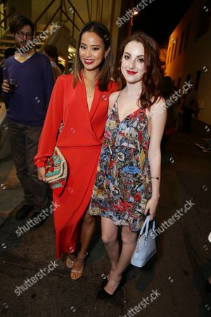 """Jamie Chung and Juliette Goglia seen at the Los Angeles premiere of Hulu and Paramount Digital Entertainment's """"Resident Advisors"""" at Paramount Studios, in Hollywood, CA"""
