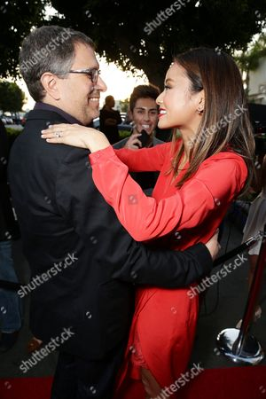 """Director Ira Ungerleider and Jamie Chung seen at the Los Angeles premiere of Hulu and Paramount Digital Entertainment's """"Resident Advisors"""" at Paramount Studios, in Hollywood, CA"""