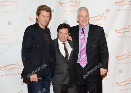 "Stock Picture of Denis Leary, left, Michael J. Fox and Lenny Clarke attend ""A Funny Thing Happened on the Way to Cure Parkinson's"", to benefit The Michael J. Fox Foundation for Parkinson's Research, at the Waldorf Astoria, in New York"
