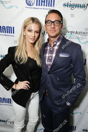 Morgan Stewart and Adam Stotsky - President, Esquire Network and General Manager, E! Entertainment seen at NAMI stigmafree Luncheon sponsored by Hope & Grace, in Los Angeles, CA